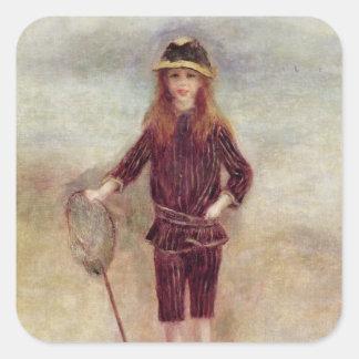 Pierre A Renoir | The Little Fisherwoman Square Sticker