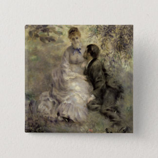 Pierre A Renoir | The Lovers 15 Cm Square Badge