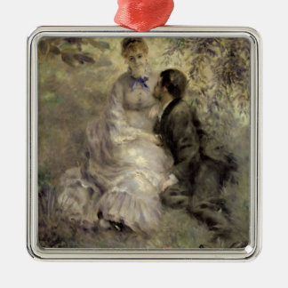 Pierre A Renoir | The Lovers Silver-Colored Square Decoration