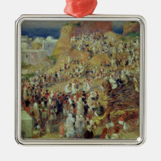 Pierre A Renoir | The Mosque, or Arab Festival Silver-Colored Square Decoration
