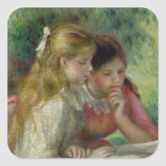 Pierre A Renoir | The Reading Square Sticker