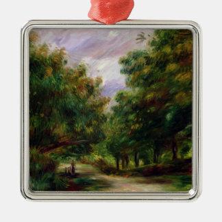 Pierre A Renoir | The Road near Cagnes Silver-Colored Square Decoration