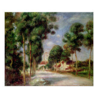 Pierre A Renoir | The Road to Essoyes Poster
