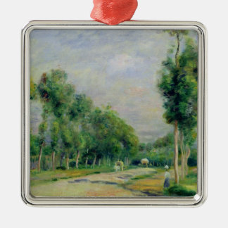 Pierre A Renoir | The Road to Versailles Silver-Colored Square Decoration