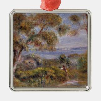 Pierre A Renoir | The Sea at Cagnes Silver-Colored Square Decoration