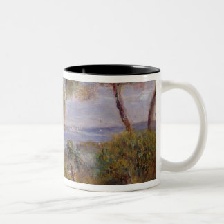 Pierre A Renoir | The Sea at Cagnes Two-Tone Coffee Mug