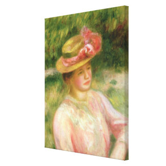 Pierre A Renoir | The Straw Hat Canvas Print