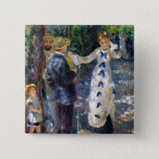 Pierre A Renoir | The Swing 15 Cm Square Badge