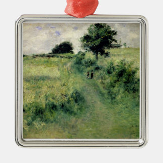 Pierre A Renoir | The Watering-place Silver-Colored Square Decoration