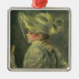 Pierre A Renoir | The White Hat Christmas Ornament