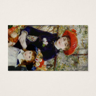 Pierre A Renoir | Two Sisters, or On The Terrace Business Card