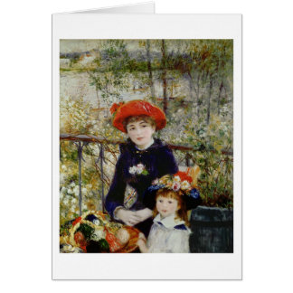 Pierre A Renoir   Two Sisters, or On The Terrace Card