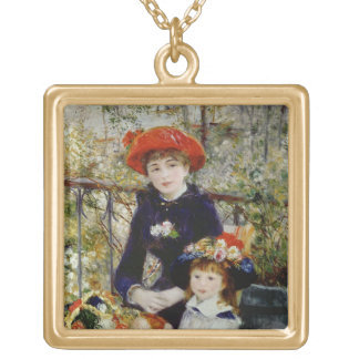 Pierre A Renoir | Two Sisters, or On The Terrace Gold Plated Necklace