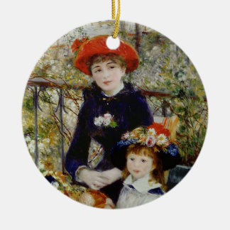Pierre A Renoir | Two Sisters, or On The Terrace Round Ceramic Decoration