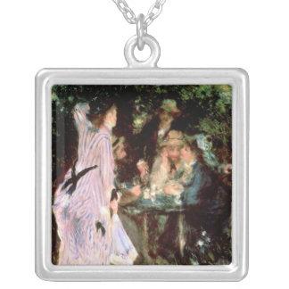 Pierre A Renoir   Under the Trees, de la Galette Silver Plated Necklace
