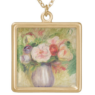Pierre A Renoir | Vase of Flowers Gold Plated Necklace