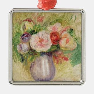 Pierre A Renoir | Vase of Flowers Silver-Colored Square Decoration
