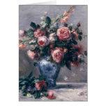 Pierre A Renoir | Vase of Roses Greeting Card