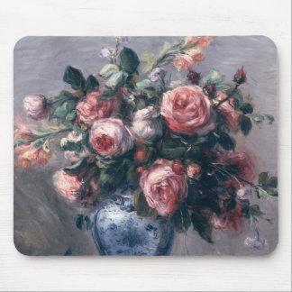 Pierre A Renoir | Vase of Roses Mouse Mat