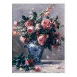 Pierre A Renoir | Vase of Roses Postcard