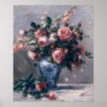 Pierre A Renoir | Vase of Roses Poster