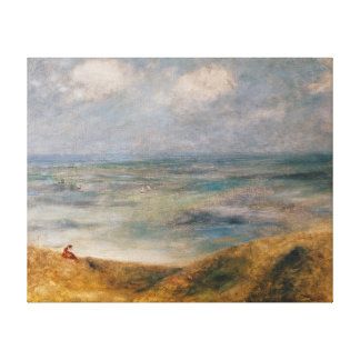 Pierre A Renoir | View of the Sea, Guernsey Canvas Print