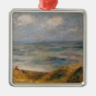 Pierre A Renoir | View of the Sea, Guernsey Silver-Colored Square Decoration