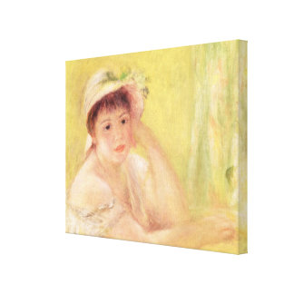 Pierre A Renoir | Woman in a Straw Hat Canvas Print