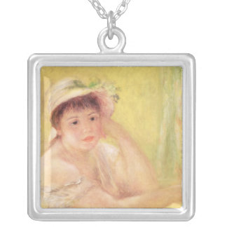 Pierre A Renoir | Woman in a Straw Hat Silver Plated Necklace