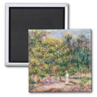 Pierre A Renoir | Woman in Garden of Les Colettes Magnet
