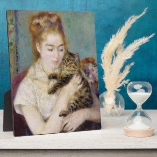 Pierre A Renoir | Woman with a Cat Plaque