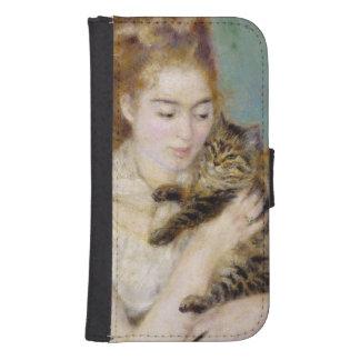Pierre A Renoir | Woman with a Cat Samsung S4 Wallet Case
