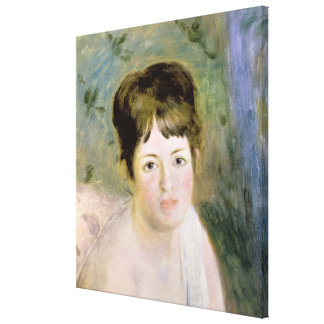 Pierre A Renoir | Woman's Head Canvas Print