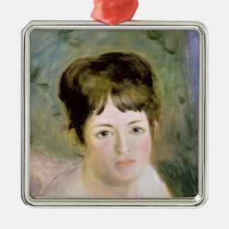 Pierre A Renoir | Woman's Head Silver-Colored Square Decoration