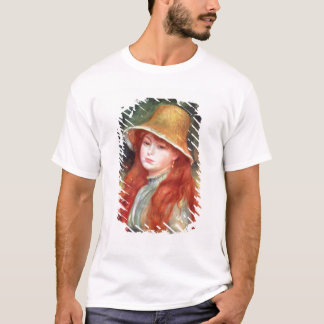 Pierre A Renoir | Young girl in a Straw Hat T-Shirt