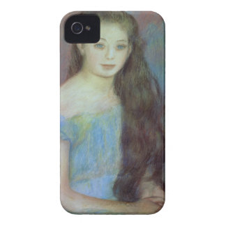 Pierre A Renoir | Young girl with blue eyes iPhone 4 Case