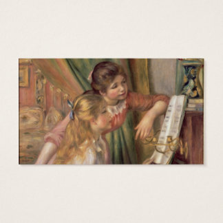 Pierre A Renoir | Young Girls at the Piano Business Card