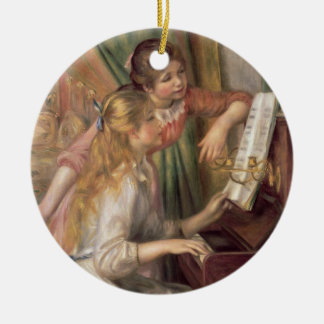 Pierre A Renoir | Young Girls at the Piano Christmas Ornament