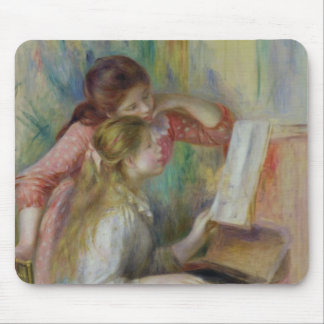 Pierre A Renoir | Young Girls at the Piano Mouse Mat