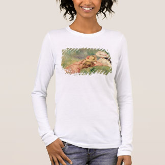 Pierre A Renoir | Young Girls on the River Bank Long Sleeve T-Shirt