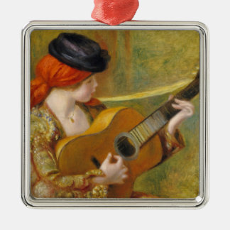Pierre A Renoir | Young Spanish Woman w/ a Guitar Christmas Ornament