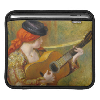Pierre A Renoir | Young Spanish Woman w/ a Guitar iPad Sleeve