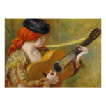 Pierre A Renoir | Young Spanish Woman w/ a Guitar Poster