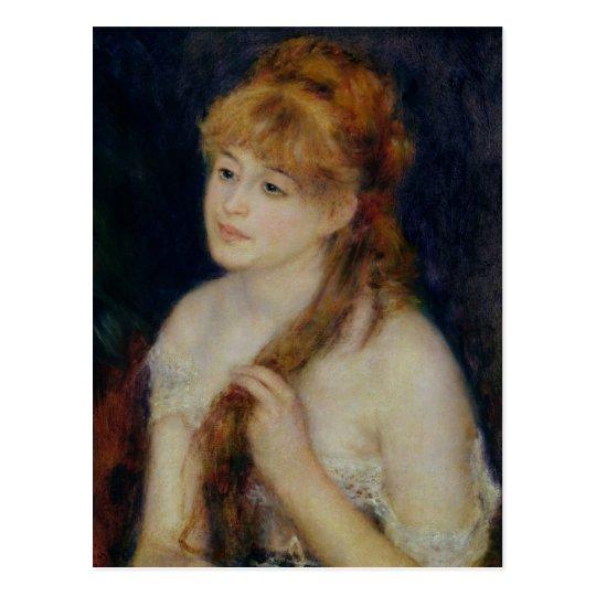 Pierre A Renoir | Young Woman Braiding her