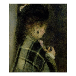 Pierre A Renoir | Young Woman with a Small Veil Poster