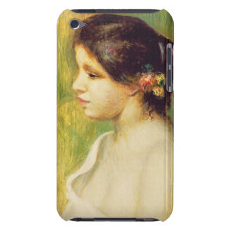 Pierre A Renoir | Young Woman with Flowers at Ear Case-Mate iPod Touch Case