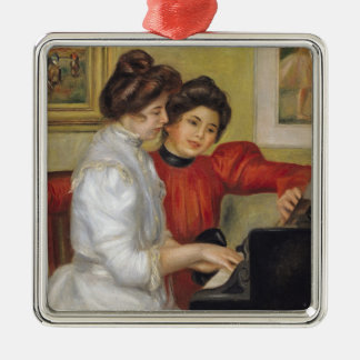 Pierre A Renoir | Yvonne and Christine Lerolle Silver-Colored Square Decoration