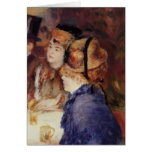 Pierre-Auguste Renoir- At the Cafe Greeting Cards
