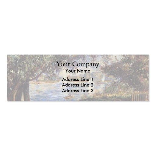 Pierre-Auguste Renoir- Bougival Business Card Templates