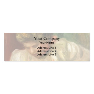 Pierre-Auguste Renoir- Bust of a Girl Pack Of Skinny Business Cards